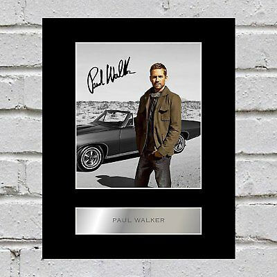 Paul Walker Signed Mounted Photo Display