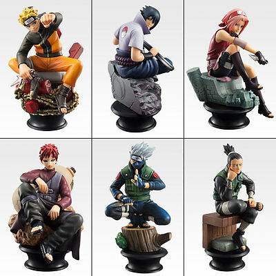 Set Chess Naruto Chess Box 6-Pack Figures Pvc Anime Statue Sasuke Manga Kakashi