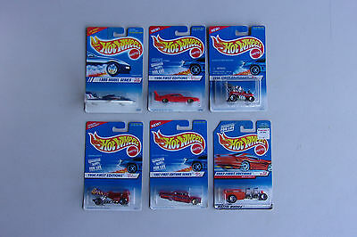 Vintage Hot Wheels 1995 1996 1997 Series Lot Of 6 First Editions Wagon Plane
