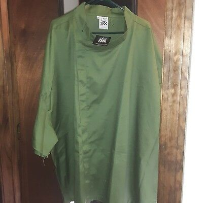 Professional Chef Jacket. Chef Revival By Dexter Russell.  Size 5Xl Mint Green
