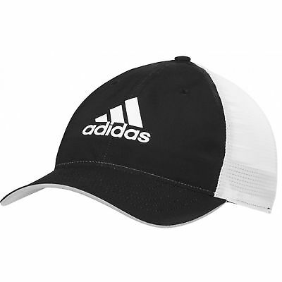 07f8dfed2f3 NWT adidas Performance Light Climacool Flexfit Hat Black White Golf Cap  Stretch