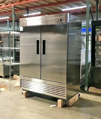 Heavy Duty Commercial Reach-In Refrigerator Two Door, Stainless 55R NSF