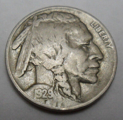 "1929 P Indian Head ""buffalo"" Nickel  *ag Or Better*  **free Shipping**"