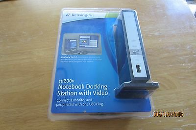NEW Kensington sd200v Universal Laptop Docking Station USB 2.0 with VGA