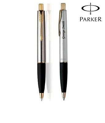Personalised Engraved Parker Frontier Stainless Steel GT Ball Point Pen Gift Box