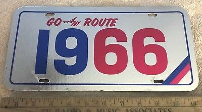 1966 Go Am Route (66) Foil Cardboard Dealer Plate American Motors