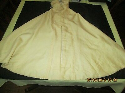 Antique Child Girl Larger Cape With Hood  For Cooler Weather