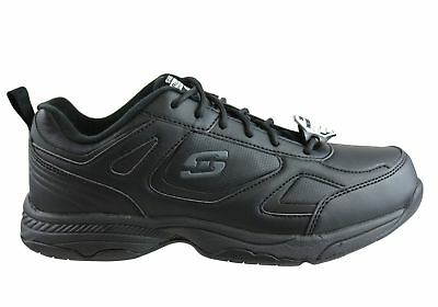 New Skechers Dighton Mens Relaxed Fit Slip Resistant Leather Work Shoes