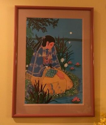 Virginia Stroud Print Water's Edege Signed And Numbered And Framed