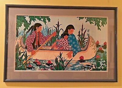 Virginia Stroud Print Peaceful Interlude Signed And Numbered And Framed