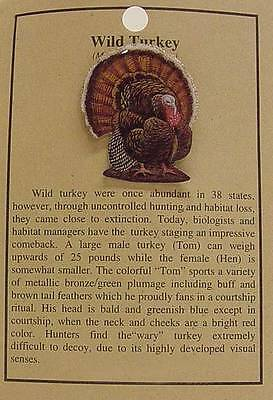 Wild Tom Turkey Hat Pin Lapel Pins Bird -Thanksgiving