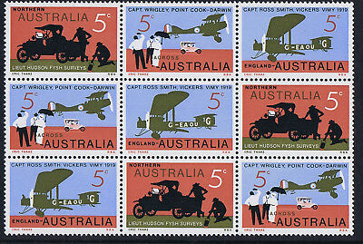 Aust Dec Stamps 1969 50th Anniversary of Flight Block of 9 **SPECIAL PRICE**
