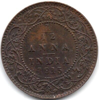 1915  Indian-British - 1/12 Anna  - Traces Of Lustre - King George V