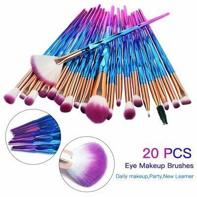 10/20PCS Eye Makeup Brushes Set Kits Blending Eyeshadow Cosmetic Brush Tool Au