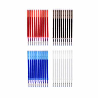 way2top 1Pc Heat Erase Pen and 10Pcs High Temperature Disappearing Fabric Marker Refills for Dressmaking Fabric PU Leather Sewing Tools Black