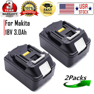 2X 3.0Ah Battery For Makita BL1815 BL1830 BL1835 LXT400 18v Lithium-ion Tools
