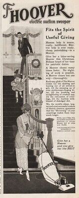 1918 Hoover Vacuum Cleaner Electric Suction Sweeper For Her Christmas Art Ad