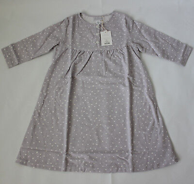 Restoration Hardware Baby & Child Dot Flannel Gown Pajamas Girls Size 4 New!!