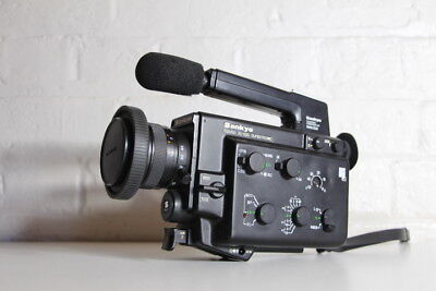 Sankyo 8mm Film Camera ~ Mic Extension ~ Working ~ User Manual ~ Great Condition