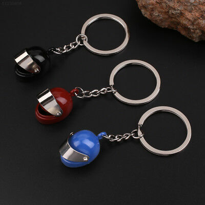 3D Creative Motorcycle Bicycle Helmet Key Chain Keychain Keyring Decor