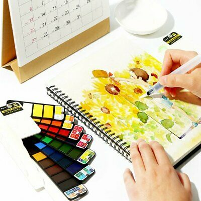 18/25/33/42 Colors Solid Foldable Watercolor Pigment Set With Water Brush Pen KU