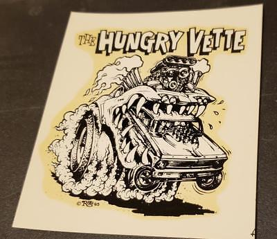 """1 original Maywood Studios Ed """"BIG DADDY"""" Roth waterslide decal:The HUNGRY VETTE"""