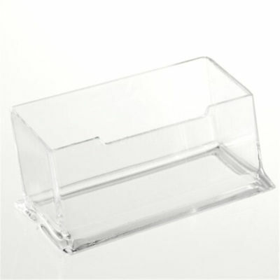Double room clear acrylic office desktop business card holder acrylic clear desktop business card holder stand display dispenser office gift colourmoves