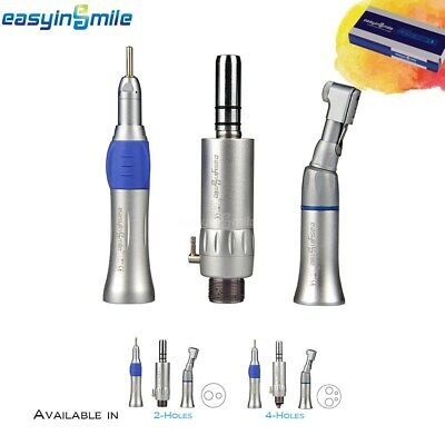 EASYINSMILE 1 Pack Dental Slow Low Speed Handpiece Kit 2/4 Hole Fit Any E-type