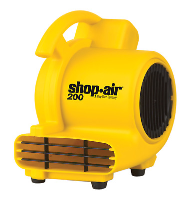 Portable Air Mover 200 CFM Dry Carpets Floors Walls Ceilings Stackable Storage