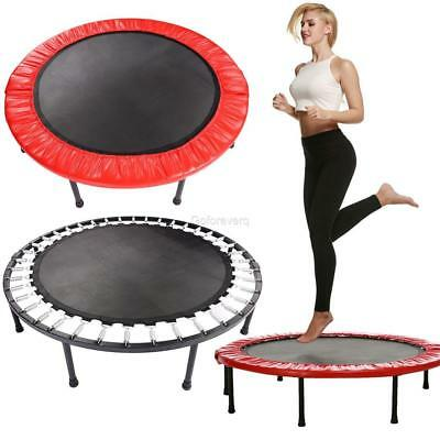 """Folding Round Trampoline Mat with V-Rings Gymnastic Exercise Fitness 37.4""""*8.6"""""""