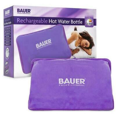 BAUER Rechargeable Hot Water Bottle Electric Detachable Power Warm Soft Cordless
