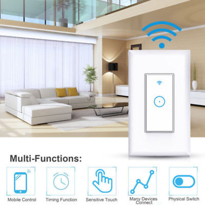 LED Smart Light Dimmer WiFi Wall Touch Switch way Work For w/ Alexa Google &NEW