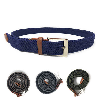Casaba Stretch Braided Belts Woven Elastic Adjustable Fit 4 Sizes Mens Womens