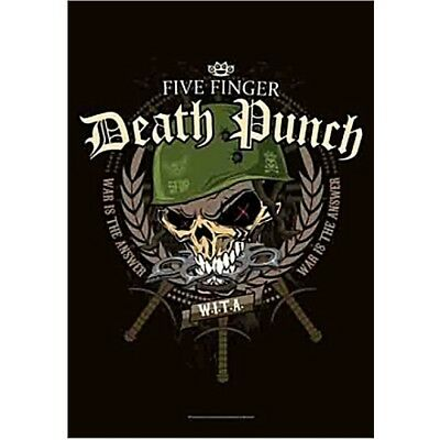 Five Finger Death Punch Warhead Fabric Poster Flag Textile Wall Banner New