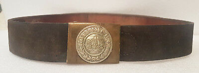 1916 RARE WORLD WAR WWI 1 German Imperial Army Belt Buckle Gott Mit Uns Prussian