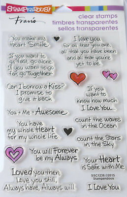 STAMPENDOUS LOVE ALWAYS Phrases Clear Stamps Cardmaking Craft Scrapbooking