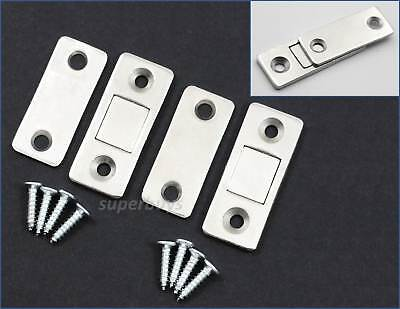 2 Sets Low Profile Magnetic Cabinet Cupboard Door Fasten Latch Snap Clasp Magnet