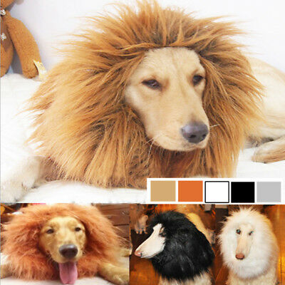 Cute Pet Cosplay Clothes Costume Lion Mane Winter Warm Wig Cat Dog Pet Apparel