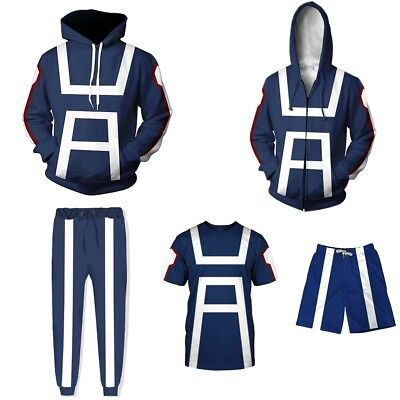 My Hero Academia All Might Cosplay Men T-shirt Trouser Hoodie Sport Gym Costume