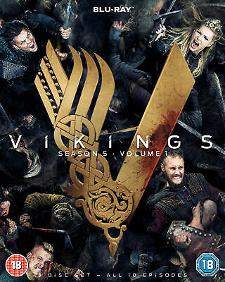 Vikings Season 5 Volume 1 [2018] (Blu-ray) Gustaf Skarsgård, Katheryn Winnick