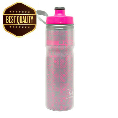 Nathan Fire Ice Water bottle - Hi -Viz Pink, 600 ml
