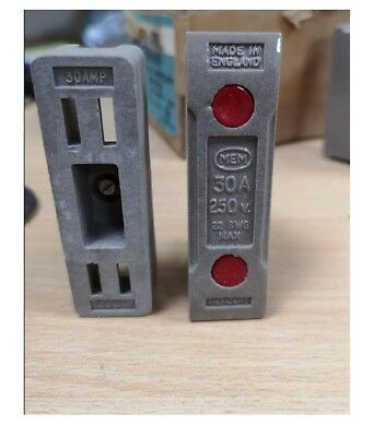 MEM MEMCERT Ceramic Rewireable Fuse Carriers & Shields (wired) 30Amp 250V