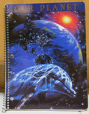"""#B2 Christian Riese Lassen VINTAGE BRAND NEW School Lined Notebook """"OUR PLANET"""""""