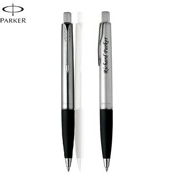 Personalised Engraved Parker Frontier Stainless Steel CT Ball Point Pen Gift Box