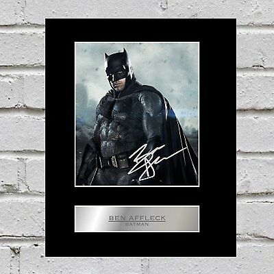 Ben Affleck Signed Mounted Photo Display Batman #1