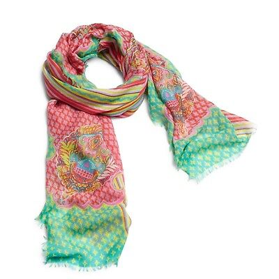 NWT Retired Vera Bradley Printed Poly Scarf In Paisley In Paradise
