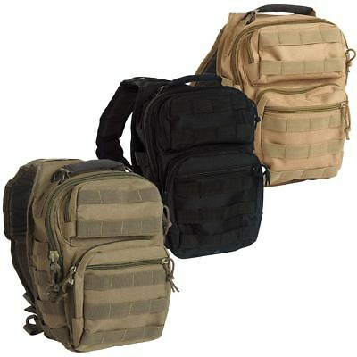 Mil-Tec Tactical Padded Assault Backpack Rucksack One Strap Sling Molle Pack