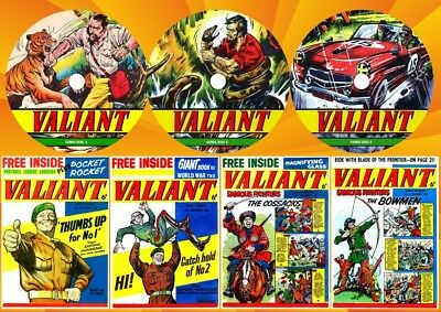 Valiant UK Comics & Annuals (Complete) On 5 DVD Rom's
