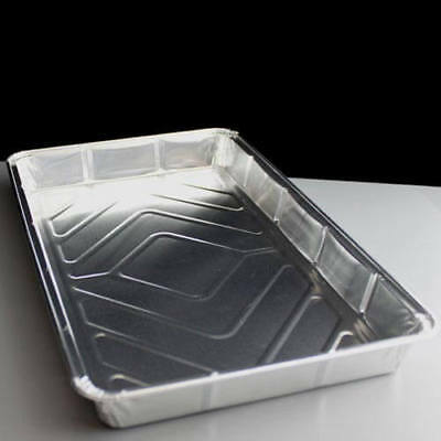"Rectangular Foil Traybake 12""x8"" Disposable Baking Catering Containers Dish Pie"