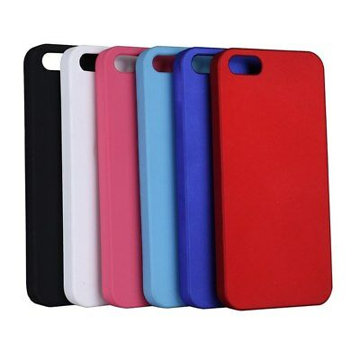 For Apple iPhone SE + 5S -Ultra-Thin Matte Rubberized Grip Slim Hard Cover Case
